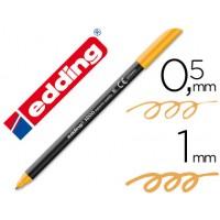 Rotulador edding punta fibra 1200 naranja claro n.16 -punta redonda 0.5 mm