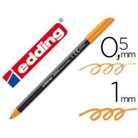Rotulador edding punta fibra 1200 naranja n.6 -punta redonda 0.5 mm