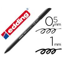 Rotulador edding punta fibra 1200 negro n.1 -punta redonda 0.5 mm