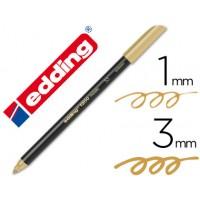 Rotulador edding punta fibra 1200 oro n. 53 -punta redonda 0,5 mm