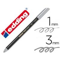 Rotulador edding punta fibra 1200 plata n. 54 -punta redonda 0,5 mm