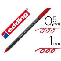 Rotulador edding punta fibra 1200 rojo ingles n.28 -punta redonda 0.5 mm
