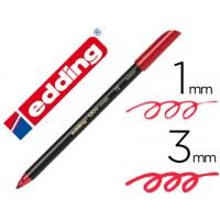 Rotulador edding punta fibra 1200 rojo metalizado n 72 punta redondo 0,5 mm