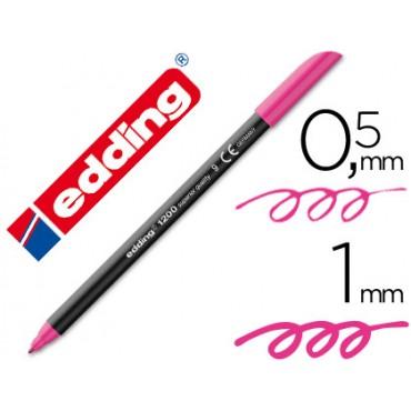 Rotulador edding punta fibra 1200 rosa n.9 -punta redonda 0.5 mm