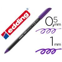 Rotulador edding punta fibra 1200 violeta n.8 -punta fibra 0.5 mm