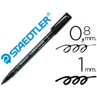 Rotulador permanente lumocolor punta de fibra 317 negro punta media redonda 0.8-1 mm