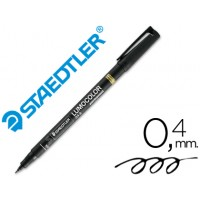 Rotulador permanente lumocolor retroproyeccion punta de fibra 313-9 negro punta super fina redonda 0.4 mm