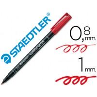 Rotulador permanente lumocolor retroproyeccion punta de fibra 317 rojo punta media redonda 0.8-1 mm