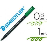 Rotulador permanente lumocolor retroproyeccion punta de fibra 317 verde punta media redonda 0.8-1 mm