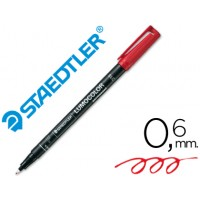 Rotulador permanente lumocolor retroproyeccion punta de fibra 318-2 rojo punta fina redonda 0.6 mm