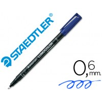 Rotulador permanente lumocolor punta de fibra 318 azul punta fina redonda 0.6 mm