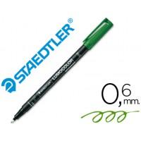 Rotulador permanente lumocolor retroproyeccion punta de fibra 318-5 verde punta fina redonda 0.6 mm