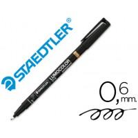 Rotulador permanente lumocolor punta de fibra 318 negro punta fina redonda 0.6 mm