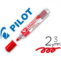 Rotulador pilot vboard master para pizarra blanca rojo tinta liquida trazo 2,3mm.