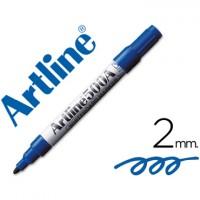 Rotulador artline pizarra ek-500 azul punta redonda 2 mm recargable.