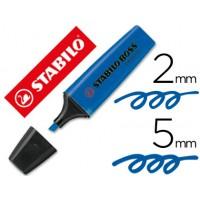 Rotulador stabilo boss fluorescente 70 azul