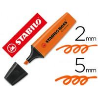 Rotulador stabilo boss fluorescente 70 naranja