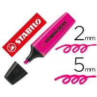 Rotulador stabilo boss fluorescente 70 rosa