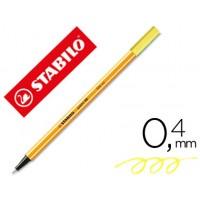Rotulador stabilo punta de fibra point 88 amarillo neon