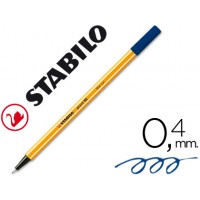 Rotulador stabilo punta de fibra point 88 azul oscuro 0,4 mm