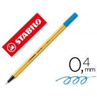 Rotulador stabilo punta de fibra point 88 azul ultramar 0,4 mm