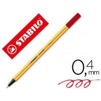 Rotulador stabilo punta de fibra point 88 carmin 0,4 mm