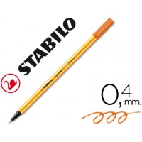 Rotulador stabilo punta de fibra point 88 naranja 0,4 mm