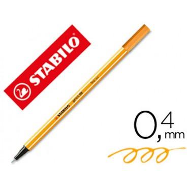 Rotulador stabilo punta de fibra point 88 naranja neon