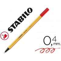 Rotulador stabilo punta de fibra point 88 rojo 0,4 mm