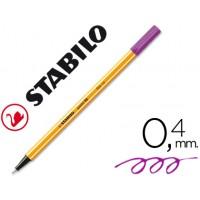 Rotulador stabilo punta de fibra point 88 violeta 0,4 mm