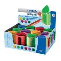 Sacapuntas Lyra Groove 2 usos con depósito