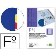 Separador liderpapel plastico juego de 10 separadores folio 16 taladros