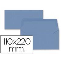 Sobre liderpapel americano azul oscuro 110x220 mm 80 gr pack de 9 unidades