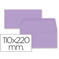 Sobre liderpapel americano lila 110x220 mm 80 gr pack de 9 unidades