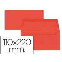 Sobre liderpapel americano rojo 110x220 mm 80 gr pack de 9 unidades