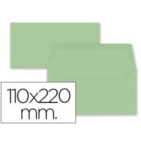Sobre liderpapel americano verde 110x220 mm 80 gr pack de 9 unidades