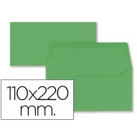 Sobre liderpapel americano verde acebo 110x220 mm 80 gr pack de 9 unidades