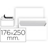 Sobre liderpapel blanco b5 solapa recta paquete 176x250 mm tira de silicona paquete de 25 unidades