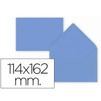 Sobre liderpapel c6 azul oscuro 114x162 mm 80gr pack de15 unidades