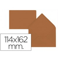 Sobre liderpapel c6 marron 114x162 mm 80gr pack de 15 unidades