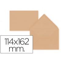 Sobre liderpapel c6 naranja 114x162 mm 80gr pack de 15 unidades