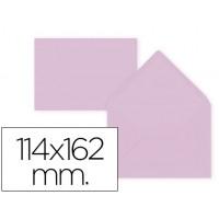 Sobre liderpapel c6 rosa palido 114x162 mm 80gr pack de15 unidades