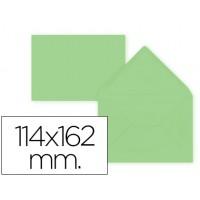 Sobre liderpapel c6 verde 114x162 mm 80gr pack de 15 unidades