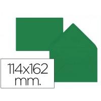 Sobre liderpapel c6 verde acebo 114x162 mm 80gr pack de 15 unidades