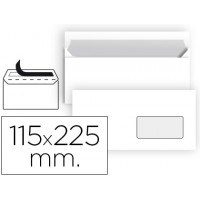 Sobre liderpapel n 4 blanco americano ventana derecha 115x225 mm tira de silicona paquete de 25 unidades