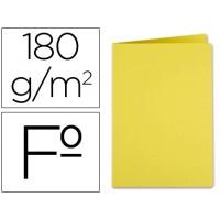 Subcarpeta liderpapel folio amarillo intenso 185g/m2