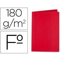 Subcarpeta liderpapel folio rojo intenso 185g/m2