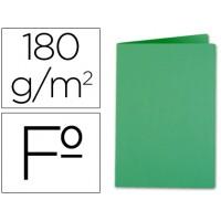 Subcarpeta liderpapel folio verde intenso 185g/m2