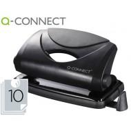 Taladrador q-connect kf01233 negro -abertura 1 mm -capacidad 10 hojas