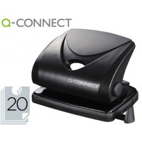 Taladrador q-connect kf01234 negro -abertura 2 mm -capacidad 20 hojas